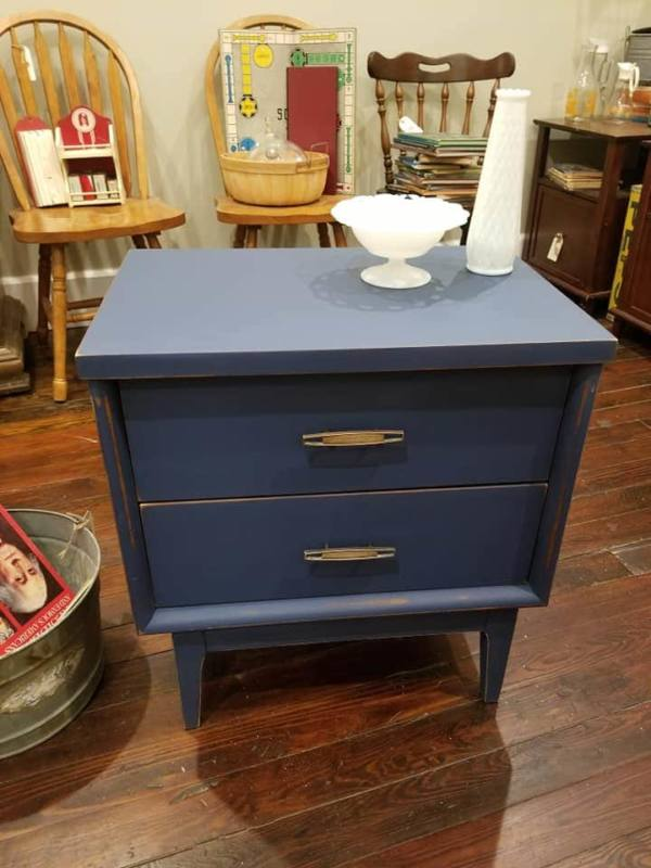 End Table Fusion Classic Liberty Blue with Pixie Dust Hemp Wax